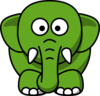 Elephant-green Clip Art