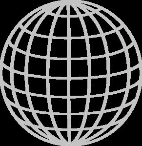 Silver Wire Globe 9pt Clip Art