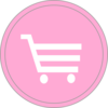 Pink Shopping Trolly Icon  Clip Art