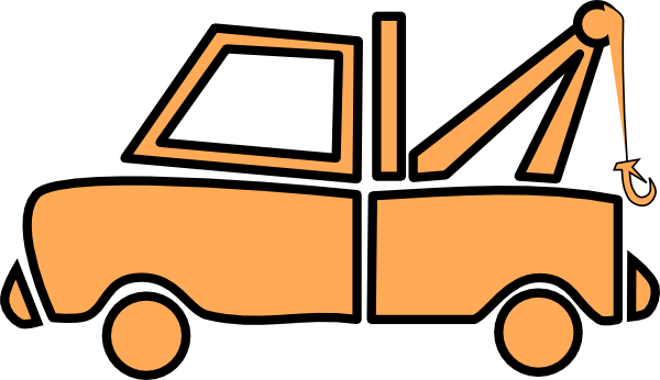 Orange Truck Clip Art Orange tow truck clip art