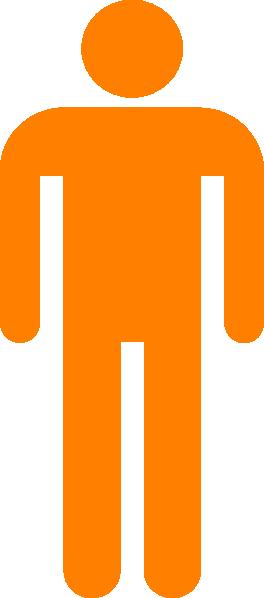 Man Silhouette Orange Clip Art at Clker.com - vector clip art online ...