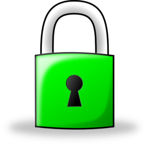 Pad Lock Green Clip Art
