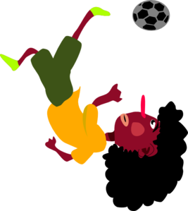 Bicycle Kick  Clip Art