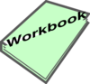 Workbook Pic Green Clip Art