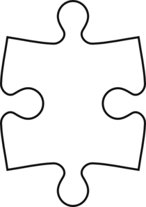 puzzle piece outline clip art at clkercom vector clip