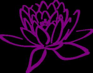 Purple Lotus Clip Art At Clkercom Vector Clip Art Online Royalty
