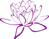 Purple Lotus Clip Art