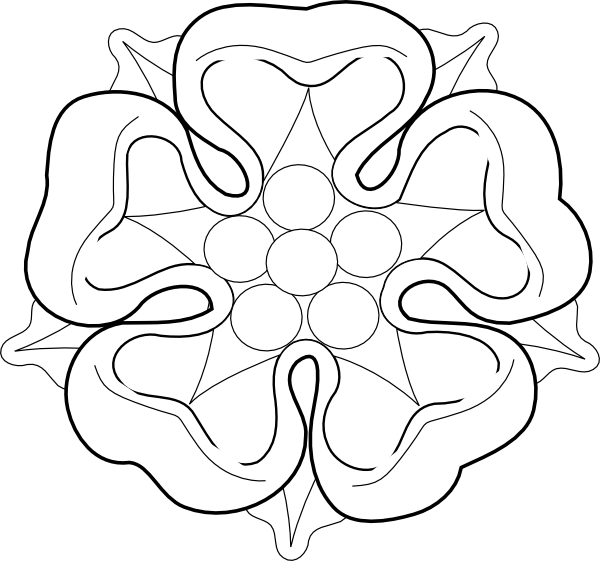 HD wallpapers tudor rose coloring page