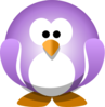 Purple Penguin Clip Art