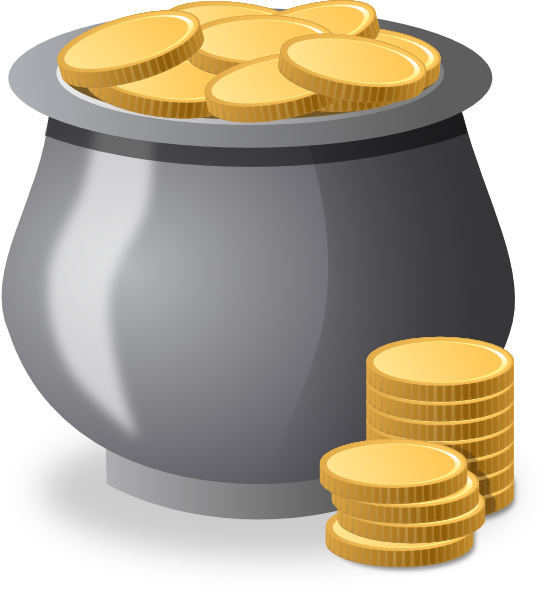 Gold Coins In A Pot Clip Art at Clker.com - vector clip ...