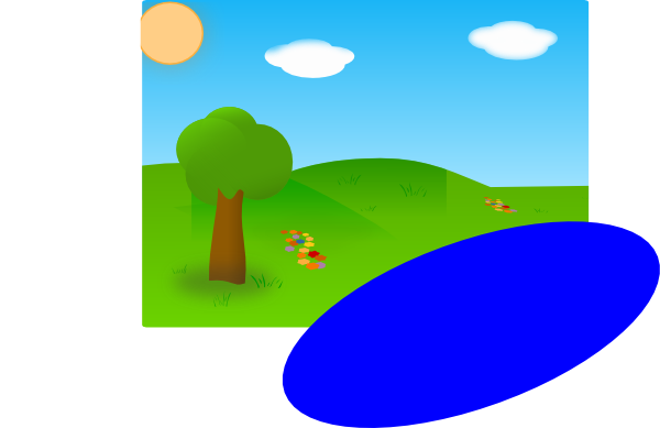 sunny day with lake just needed to add a lake to the previous work rh clker com clipart sunny side up eggs sunny clipart images