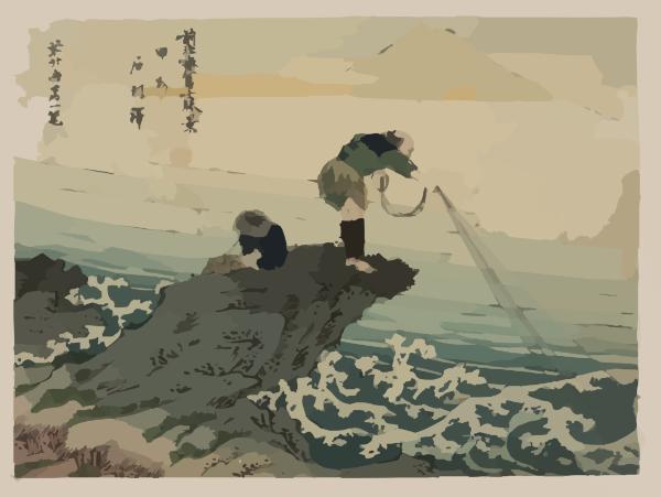 Fishing Boat Cartoon Fisherman Fishing Clip...