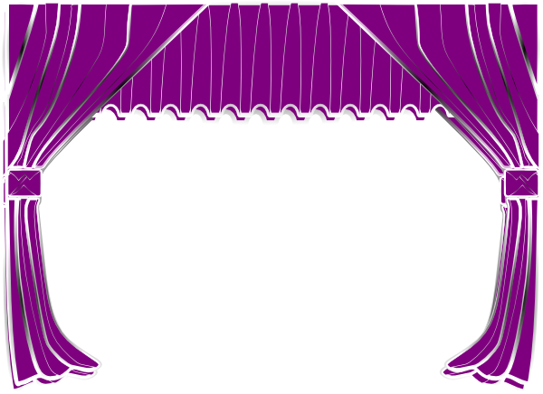 Purple curtains clip art at clker com vector clip art online