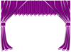 Purple Curtains Clip Art