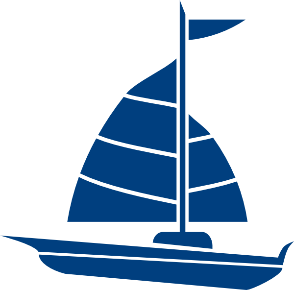 sailboat blue clip art at clker     vector clip art online royalty
