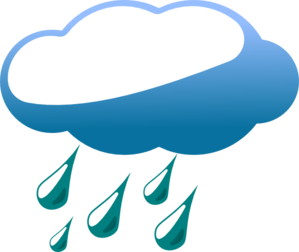 Rainy Cloud  Clip Art