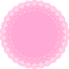 Pink Doily Clip Art
