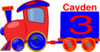 Loco Train Cayden Clip Art