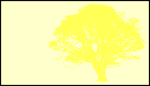Tree, Yellow, Silhouette, Yellow Background Clip Art