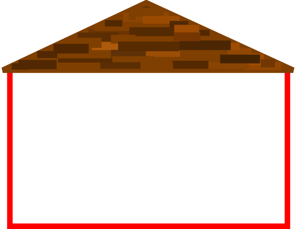 Roof Clip Art : Wide house with roof clip art at clker vector