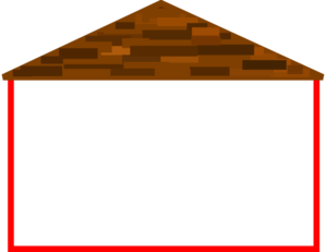 Wide House With Roof Clip Art