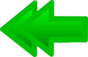 Double Back Arrow Green Clip Art