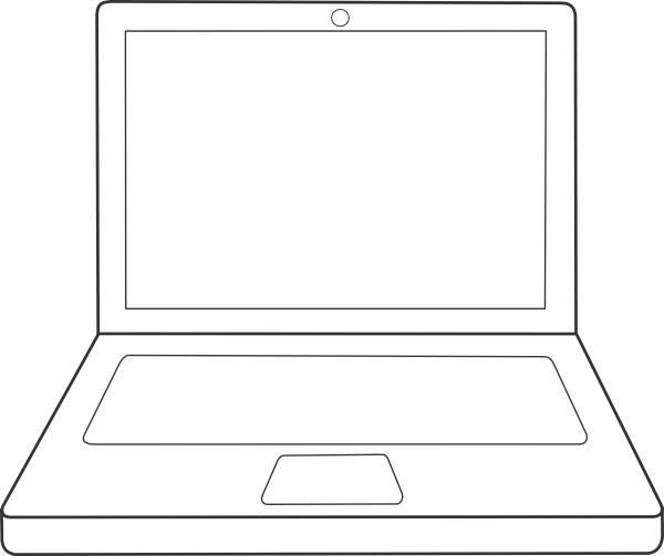 Line Drawing In Computer Graphics : Laptop clip art at clker vector online