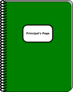 Principal Journal Clip Art