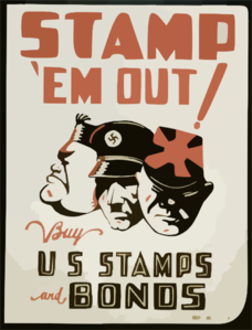 Stamp  Em Out Buy U.s. Stamps And Bonds / T.a. Byrne. Clip Art