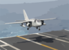 An S-3b Viking From Assigned To The  Scouts  Of Sea Control Squadron Twenty Four (vs-24) Lands On The Flight Deck Of Uss Theodore Roosevelt (cvn 71). Clip Art