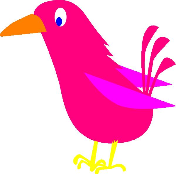 Bird pink. Clip art at clker