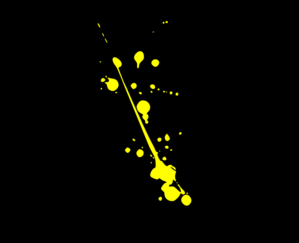 Yellow With Black Background Clip Art