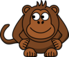Monkey Looking Left Clip Art