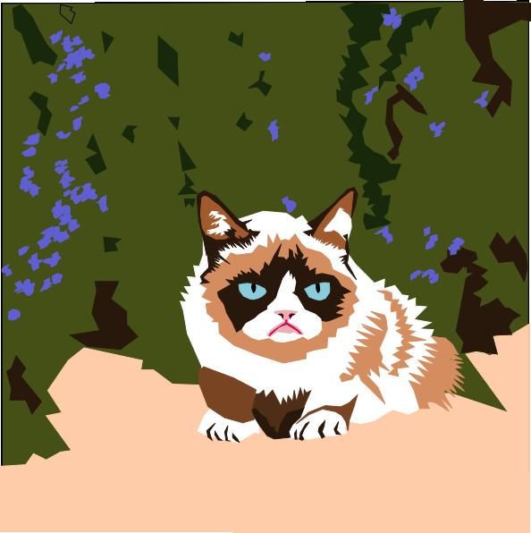 clipart grumpy cat - photo #25