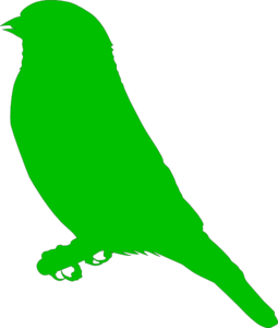 Green Bird Clip Art