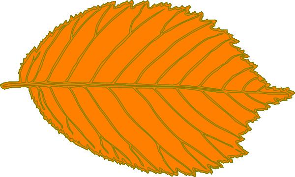 orange leaf clip art - photo #4