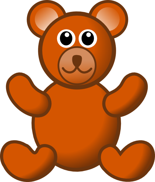 Brown Teddy Bear Clip Art at Clker.com - vector clip art ...