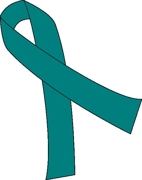 Teal Ribbon For Cancer Clip Art at Clker.com - vector clip ...