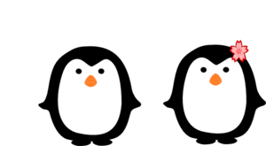 Two Penguins Clip Art