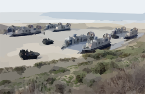 Lav Prepares To Board Lcac Clip Art