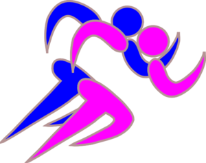 Girl And Boy Runners Version 2 Clip Art