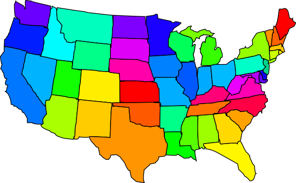 clip art map united states - photo #4