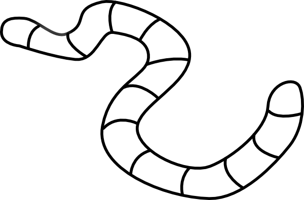 Clear Earth Worm Clip Art at Clker