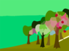 Mlp Hill Apple Trees Background Clip Art
