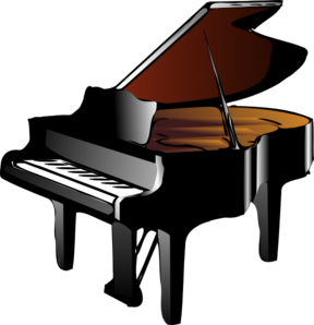 Black Grand Piano Clip Art