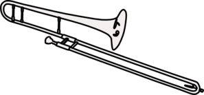 trombone clip art at clker com vector clip art online royalty rh clker com clipart trombone papier clipart trombone de bureau
