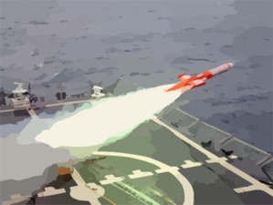 A Bqm-74e Aerial Drone Target Is Launched From The Guided Missile Frigate Uss Curts (ffg 38) Clip Art