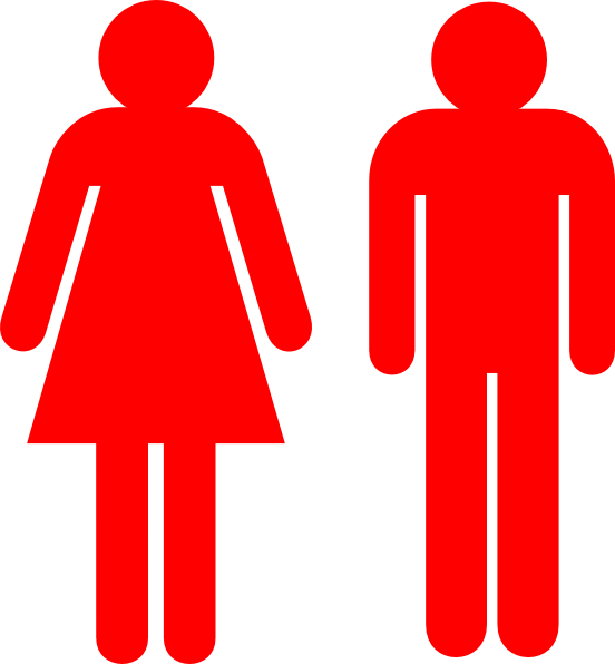 Boy And Girl Stick Figure Red Clip Art At