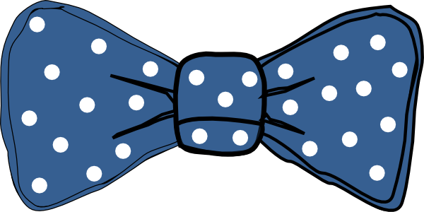 bow tie blue with white dots clip art at clker com vector clip art rh clker com bow tie clipart bow tie clipart no background