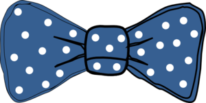 Bow Tie Blue With White Dots Clip Art